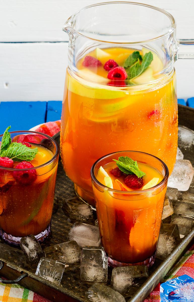 Mango and Rooibos Tea Sangria