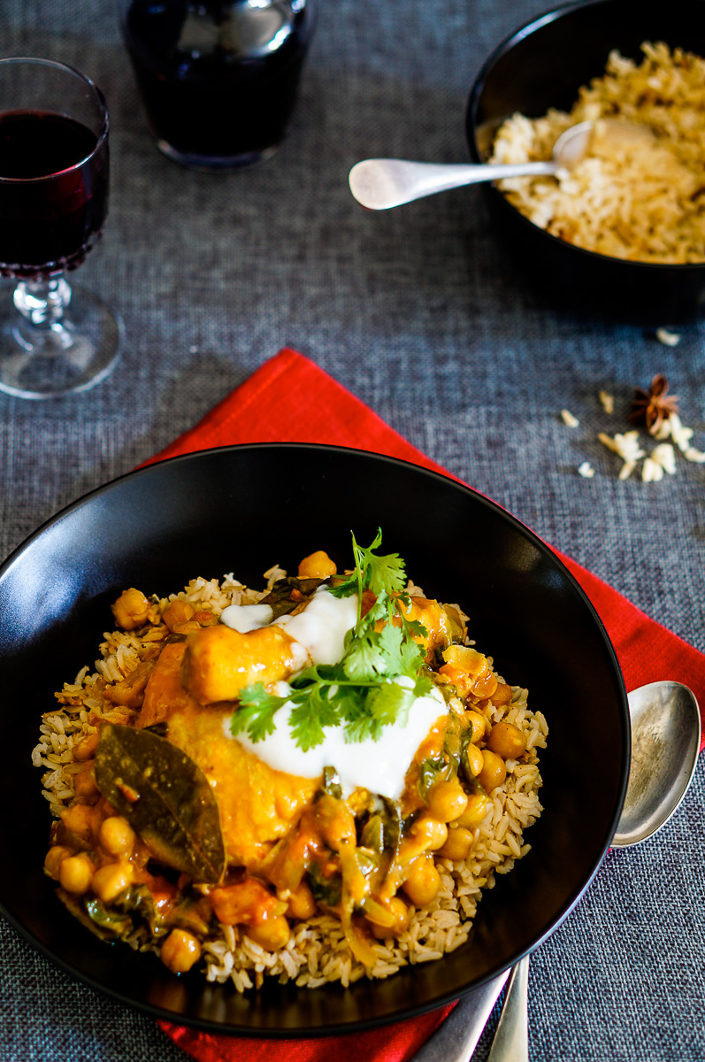 Chickpea and Chicken Coconut Curry