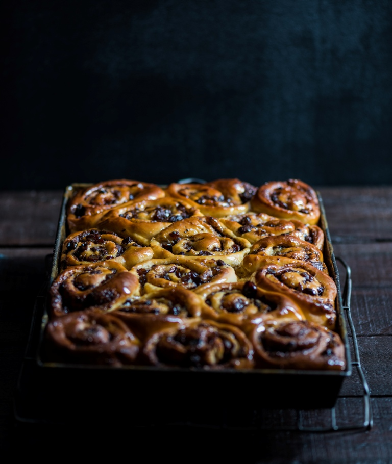 Boozy Chocolate Sticky Buns