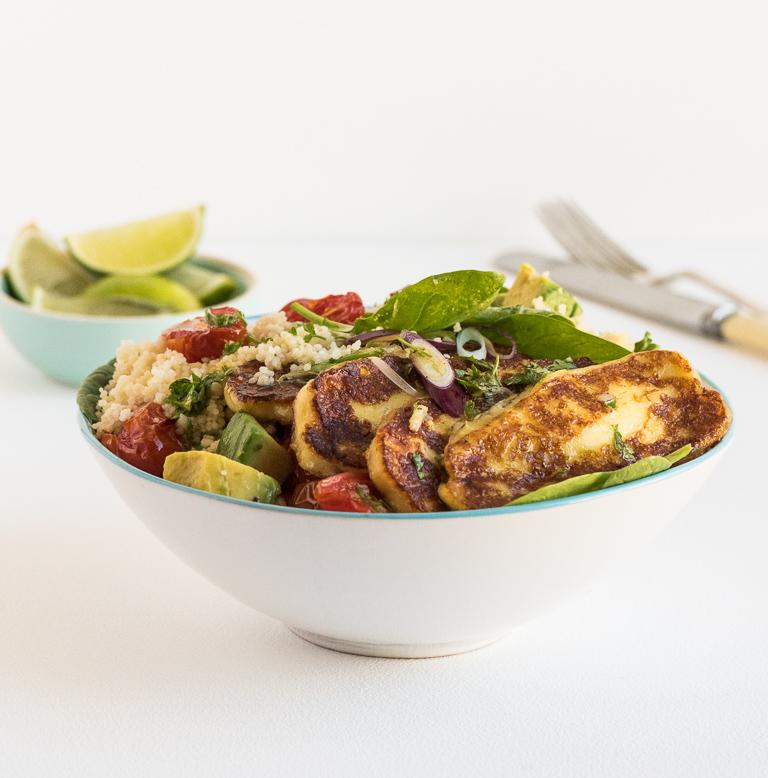 Haloumi and Couscous Salad