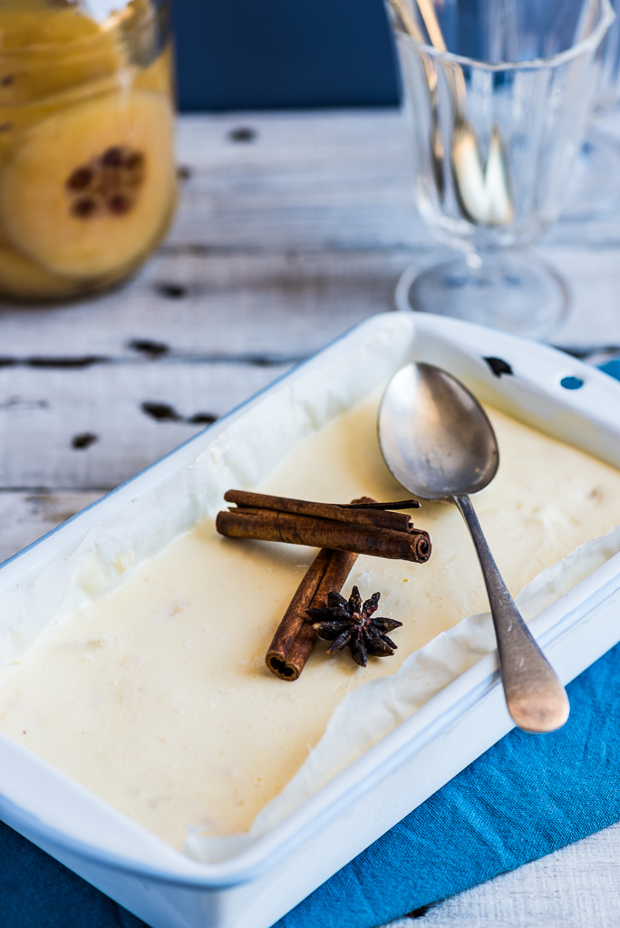 Spiced Quince Ice Cream