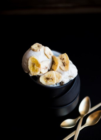 Vegan Roasted Banana Ice Cream