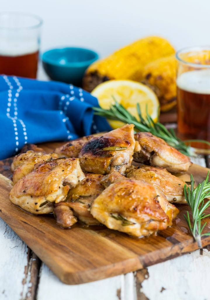 Beer Marinated Chicken Thighs