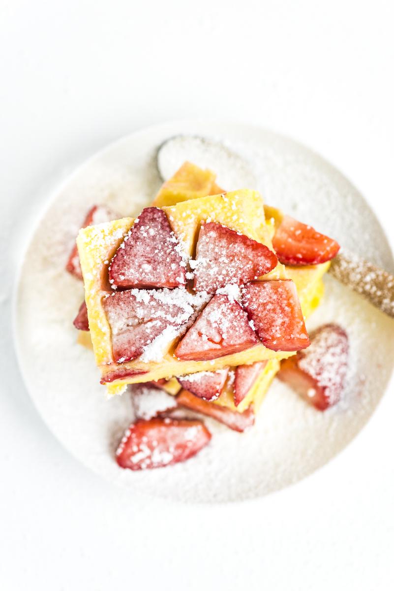 Strawberry Polenta Cakes