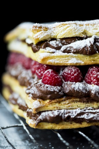 Mocha and Raspberry Millefeuille