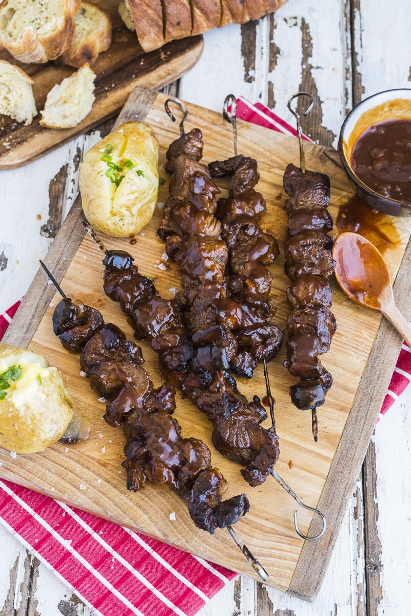 Monkey Gland Rump Kebabs