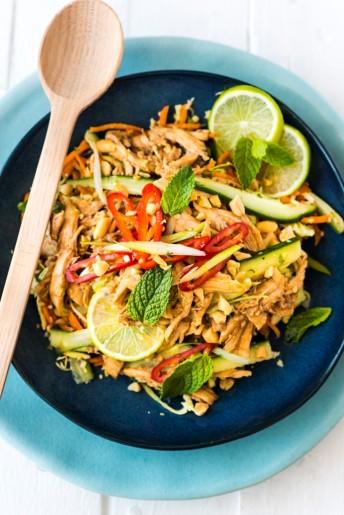 Asian Inspired Shredded Chicken Salad