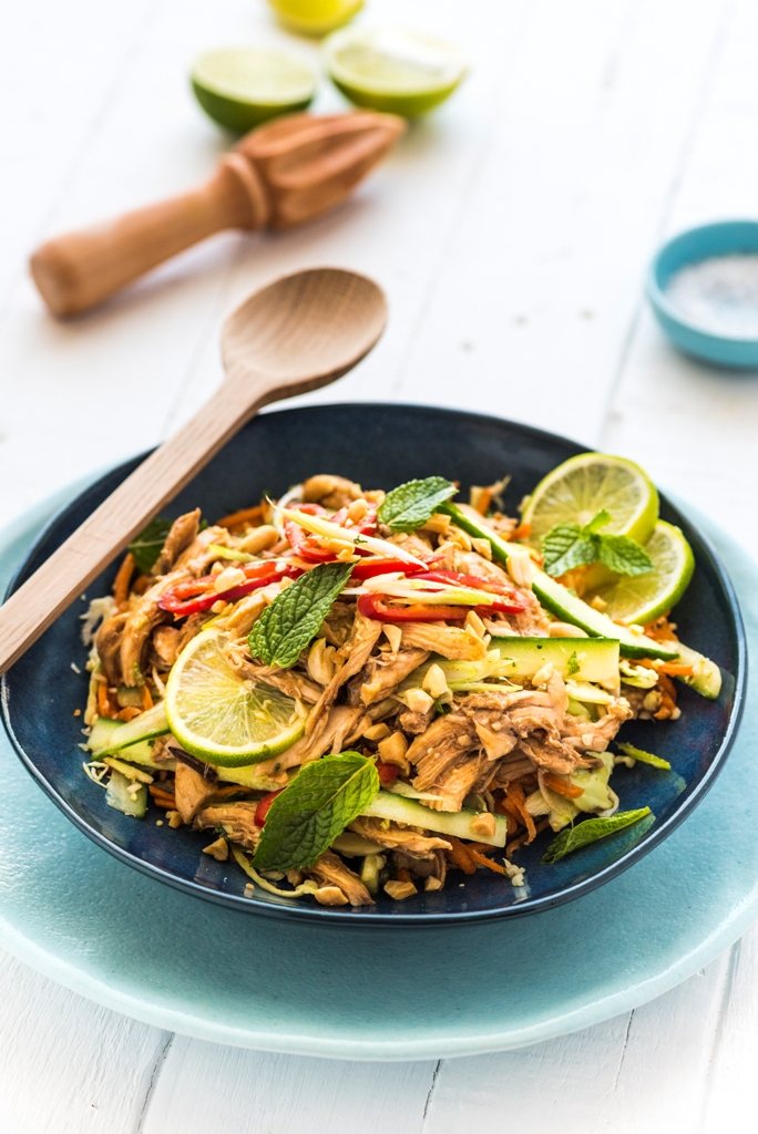 Asian Inspired Shredded Chicken Salad