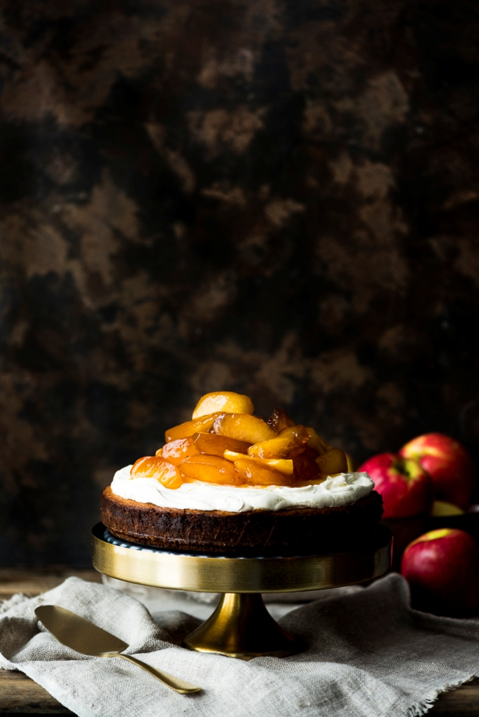 Persian Love Cake with Caramel Brandy Poached Apples