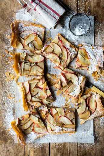 Apple Pear Phyllo Tart