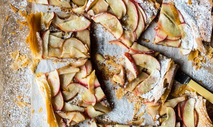 Apple Pear Phyllo Tart