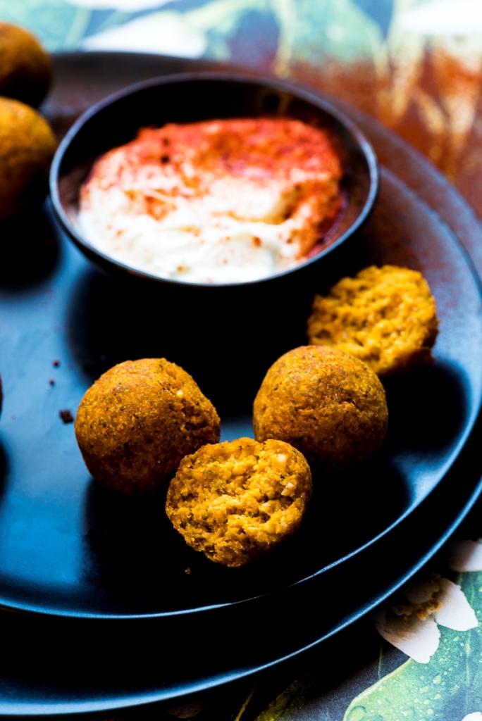 Roasted Butternut Squash Falafel