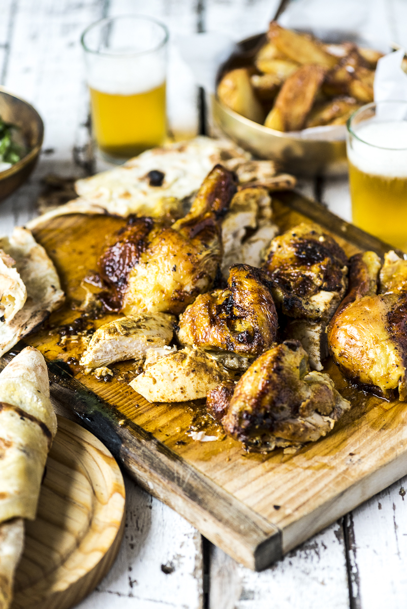 Whole Masala Roast Chicken