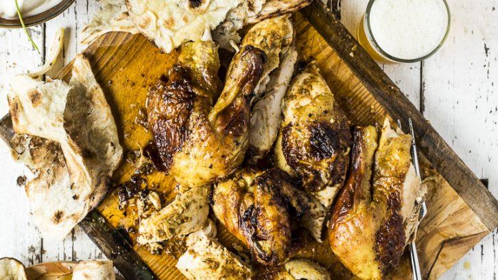 Whole Masala Roast Chicken