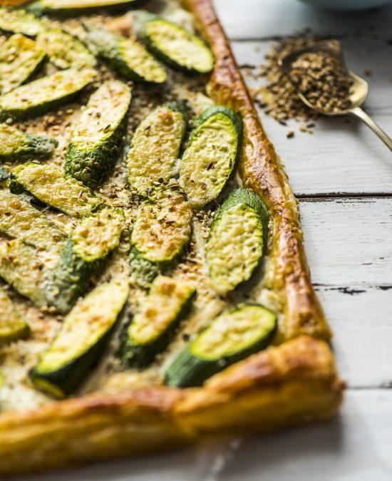 Zucchini Labneh Tart