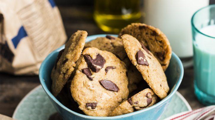 Olive Oil Espresso Choc Chip Cookies