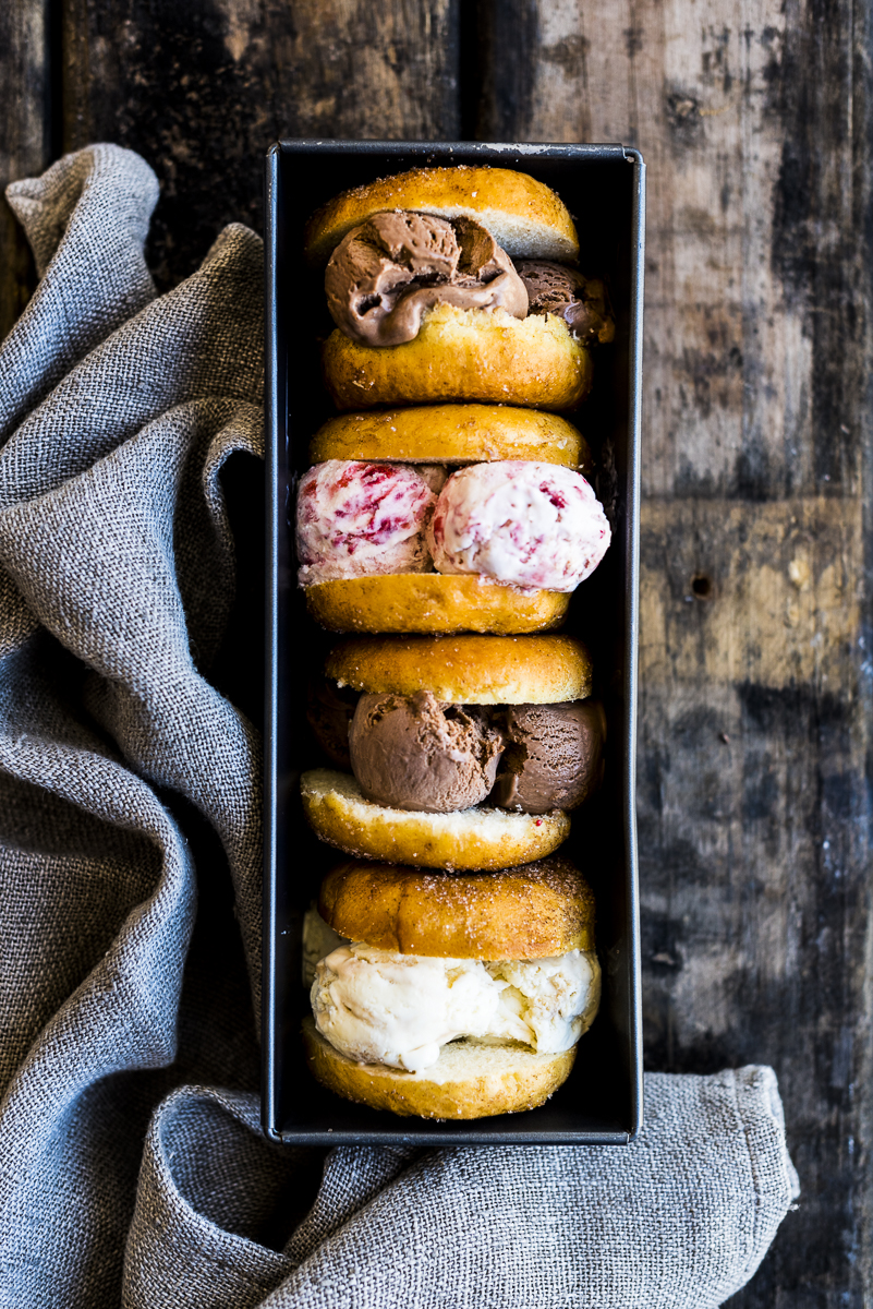 Doughnut Ice Cream Sandwiches