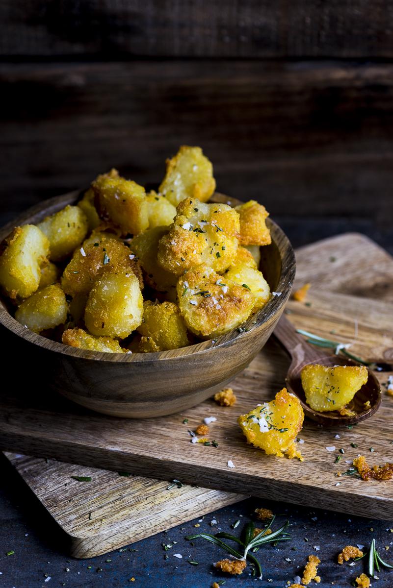 Polenta Parmesan Roast Potatoes