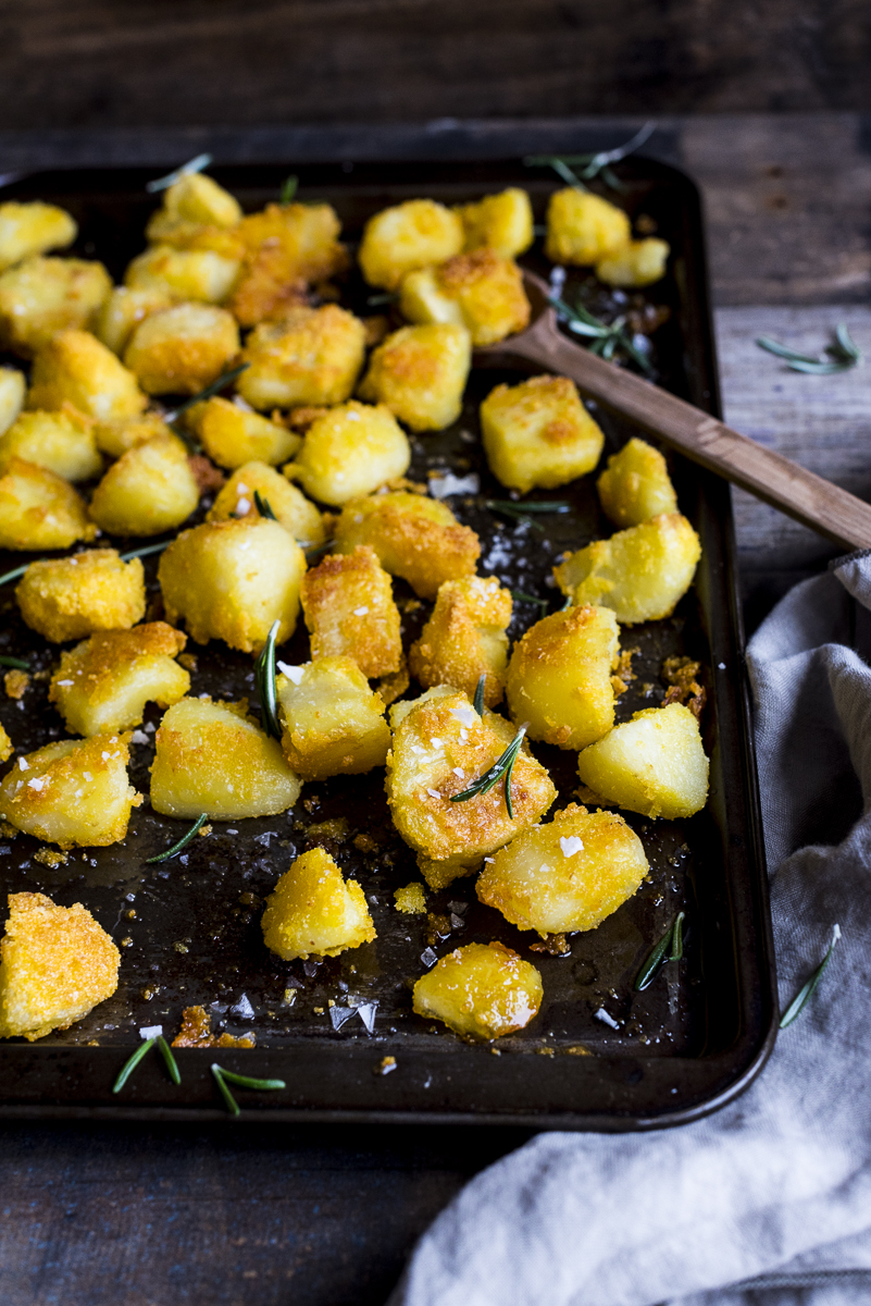 Polenta Parmesan Roasted Potatoes