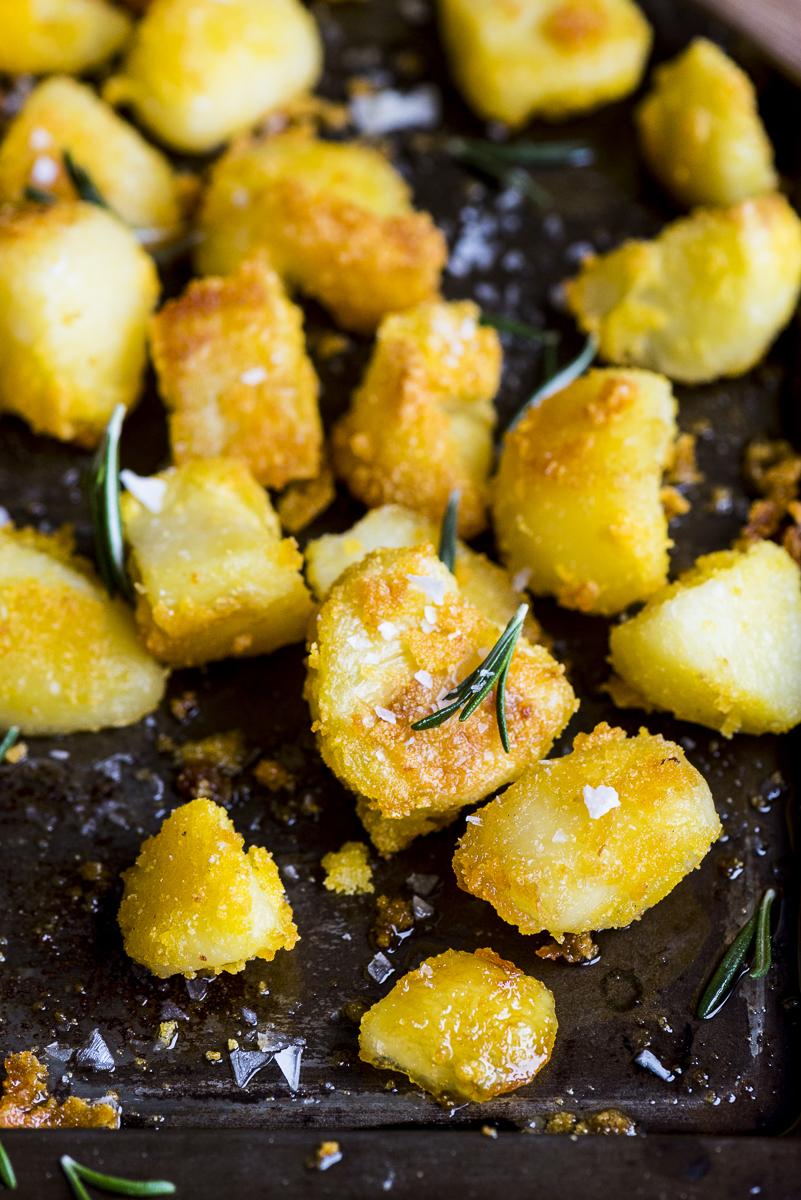 Polenta Parmesan Roasted Potatoes
