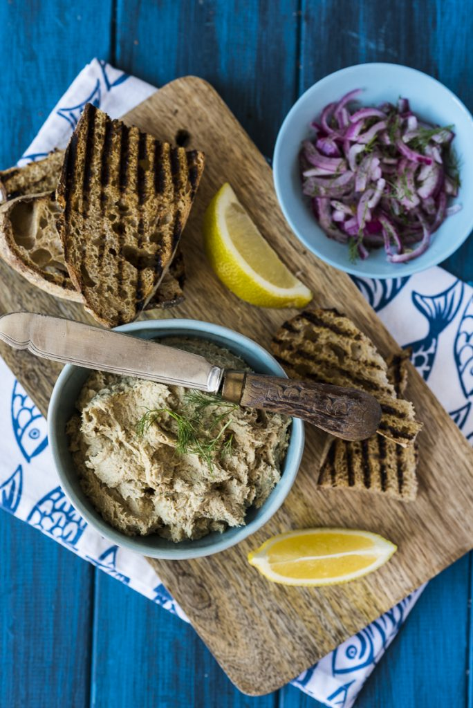 Mackerel Pate with Quick Pickled Red Onion