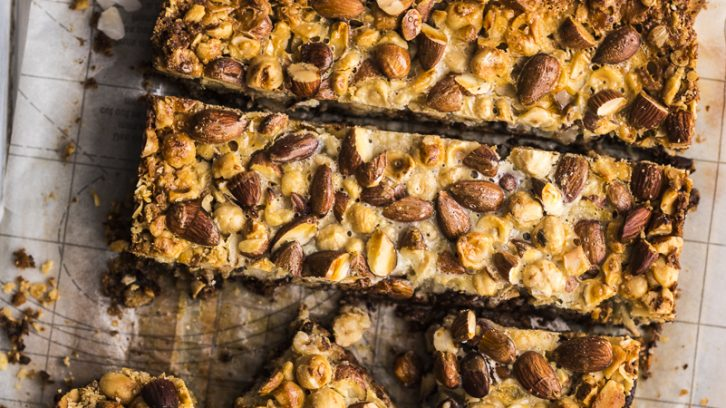 Easiest Five Step Chocolate and Nut Bars