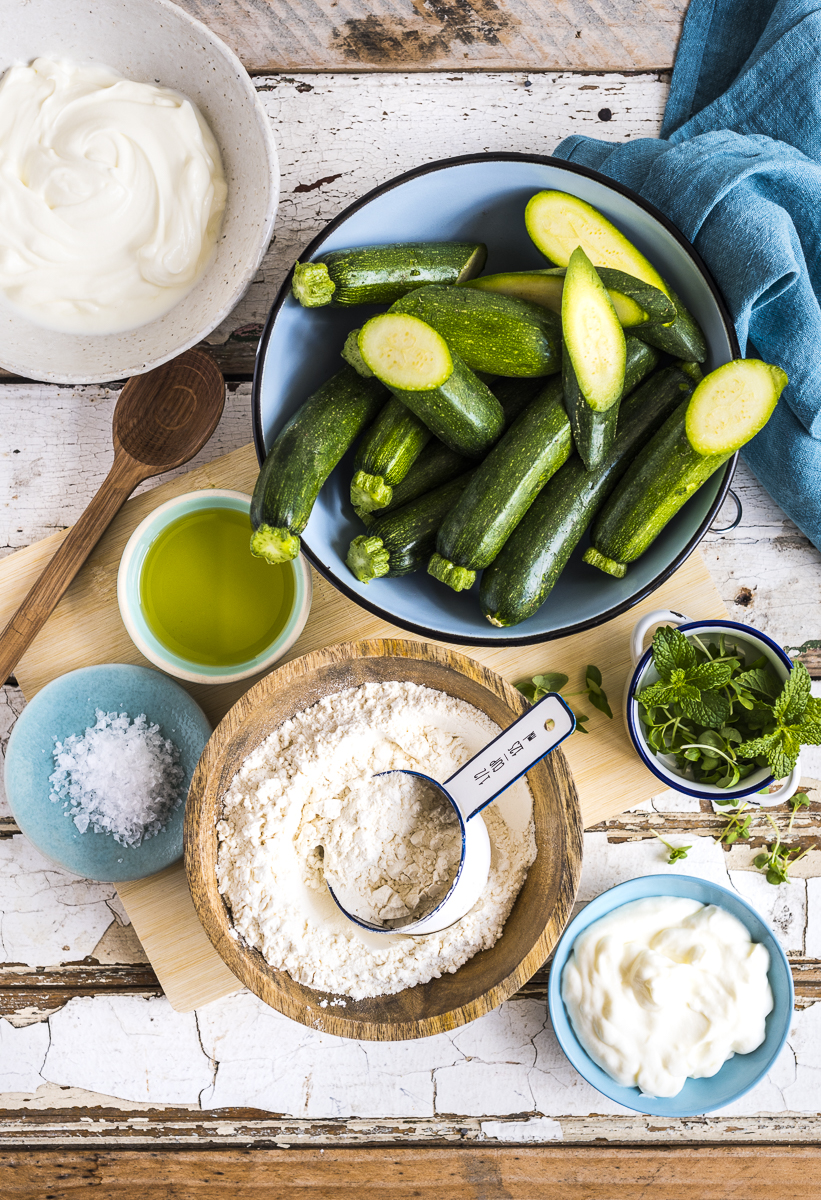 Flatbreads with Labneh and Grilled Zucchini