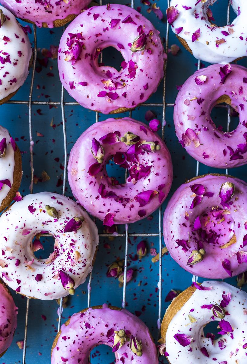 Lemon and Rose Doughnuts