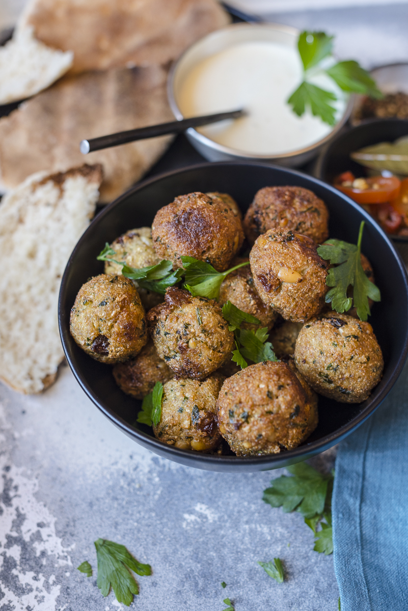 Cauliflower Koftas with Vegan Mayonnaise