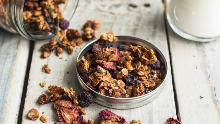 Nut Butter Granola with Cacao Nibs
