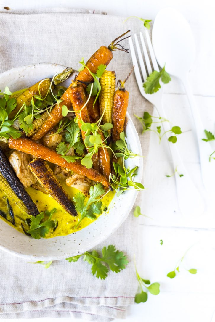 Spiced Turmeric Broth with Roast Vegetables