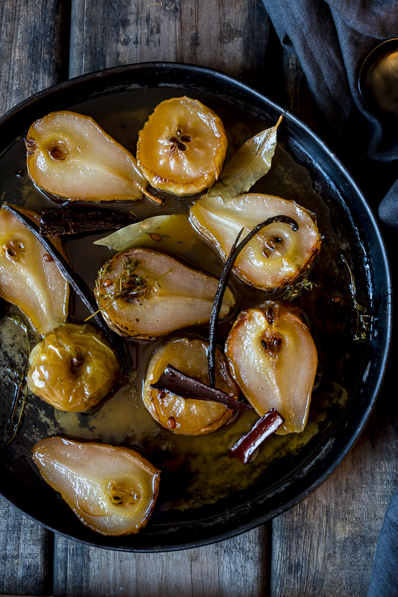 Pears Roasted in Cider