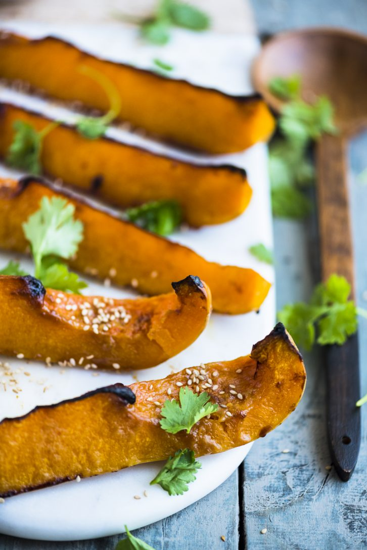Roasted Butternut with Miso and Garlic