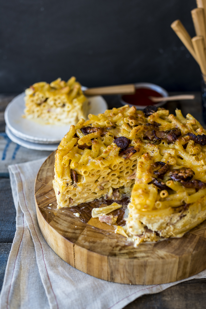 Macaroni and Cheese Cake