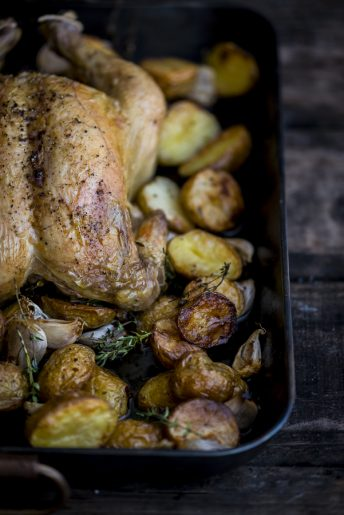 Roast Chicken with 40 Cloves of Garlic