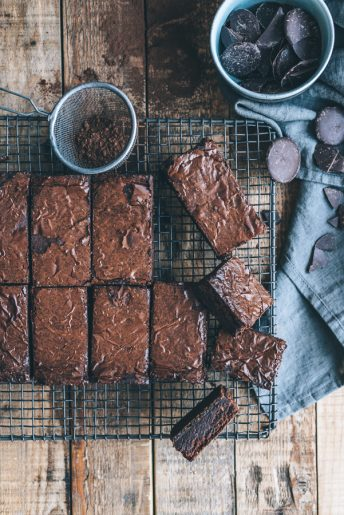 Gingernut Crusted Chocolate Brownies