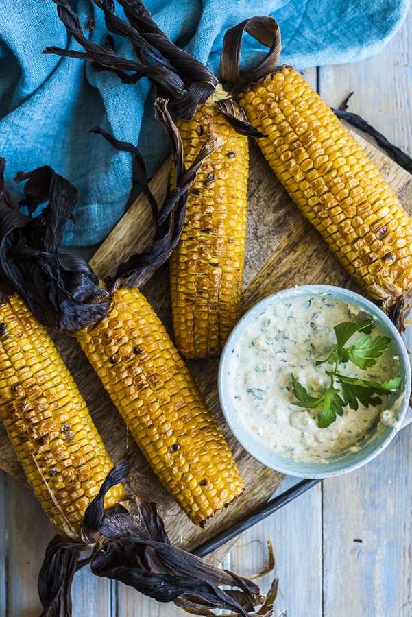 Grilled Corn with Spicy Lime Butter