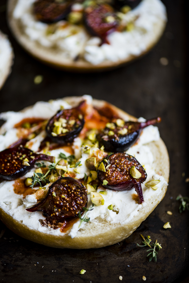 Grilled Fig and Labneh Tartine