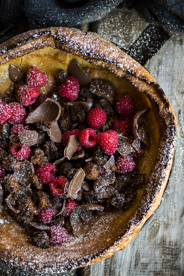 Dutch Baby with Hot Cross Bun Croutons