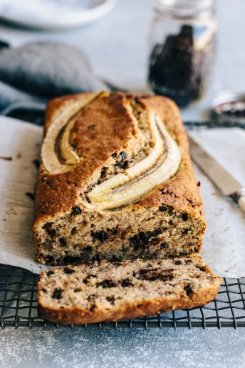 Tahini Choc Chip Banana Bread