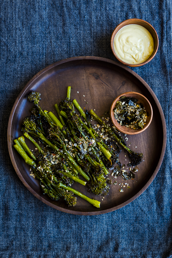 Roasted Broccoli with Nori Salt