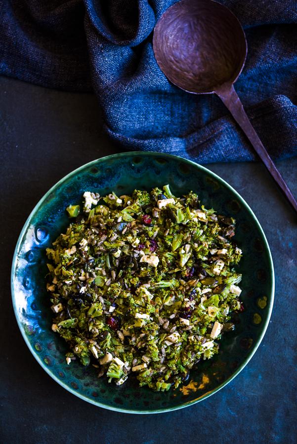 Roasted Broccoli Slaw with Feta