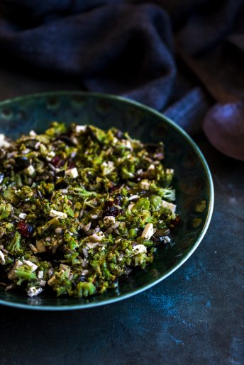 Roasted Broccoli Slaw with Feta