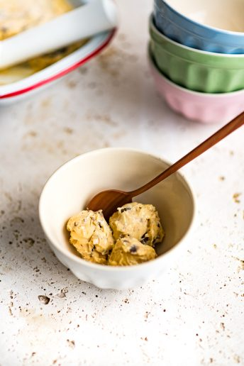 Salted Fudge and Tahini Ice Cream (no churn)