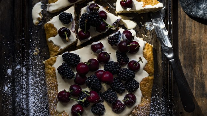 White Chocolate and Summer Berry Galette