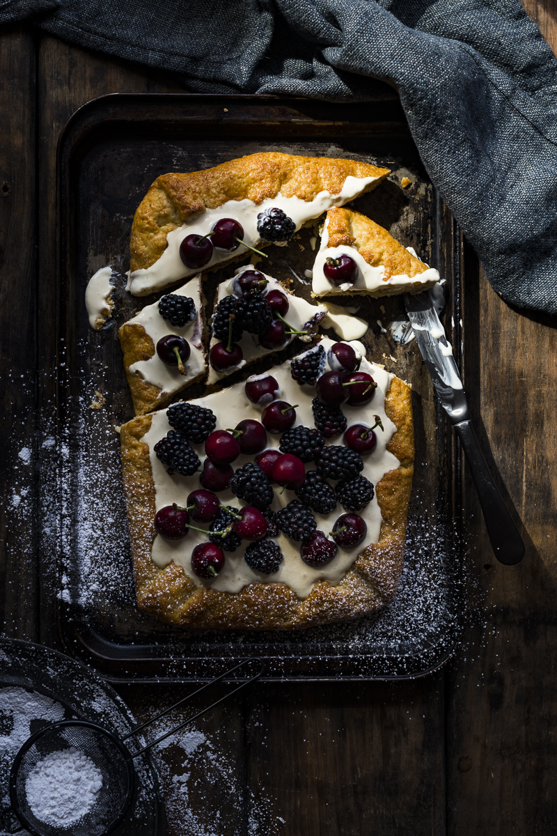 White Chocolate Frangipane and Summer Berry Galette