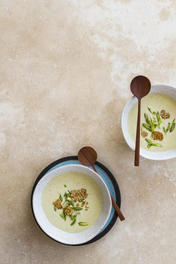 Asparagus and Tahini Veloute