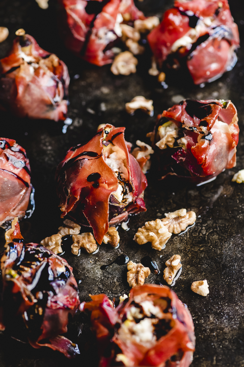 Roasted Figs With Ricotta and Parma Ham