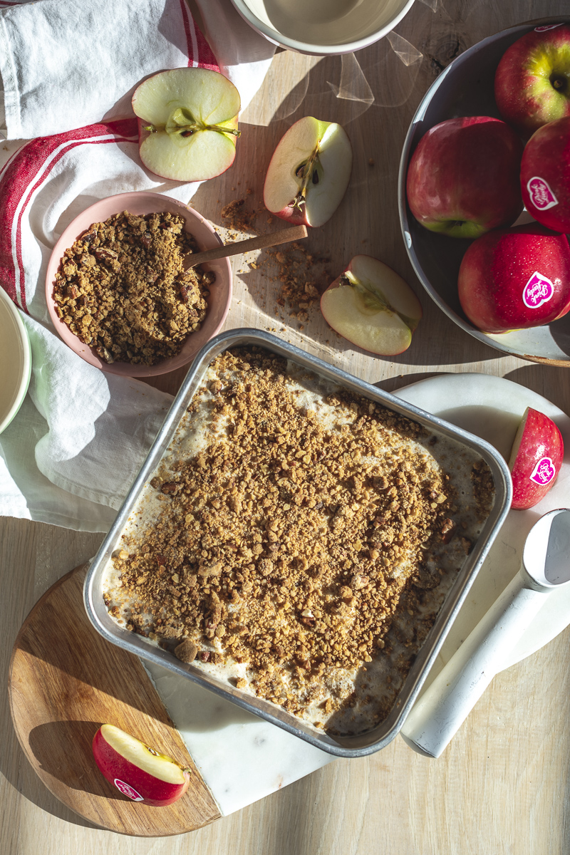 Brandy Roasted Pink Lady® Apple Crumble Ice Cream