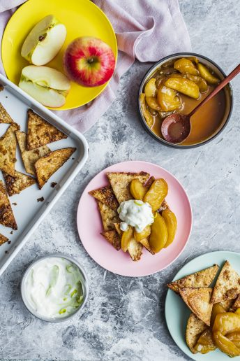 Sweet Nachos with Caramelised Pink Lady® Apples